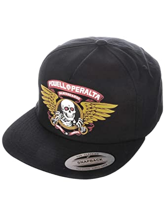 dd36aec2652 Powell-Peralta Winged Ripper Snapback Hat (Black) at Amazon Men s Clothing  store