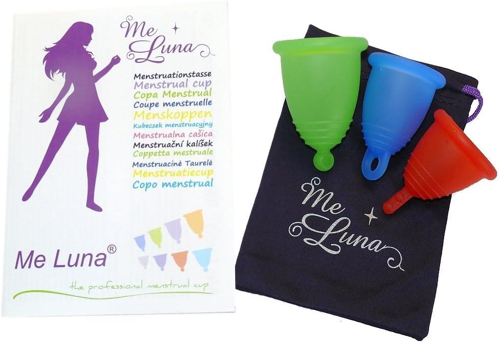 MeLuna - Copa menstrual Transparente, Classic, Anillo, Talla- S