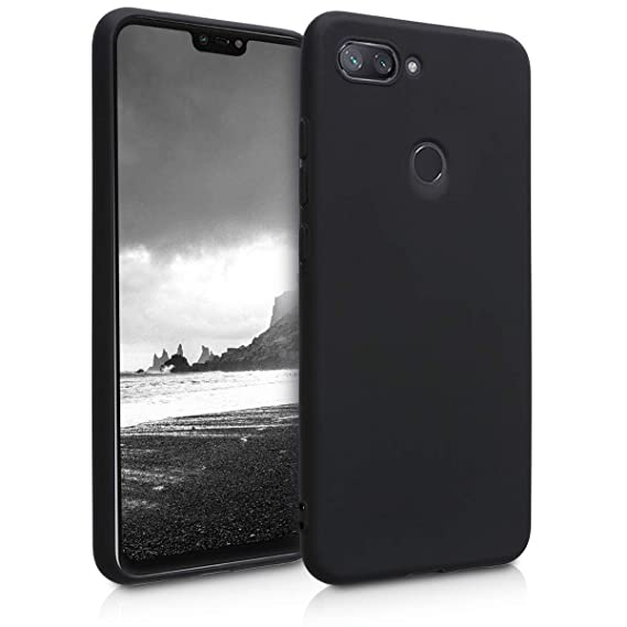 separation shoes 5569a 59c73 kwmobile TPU Silicone Case for Xiaomi Mi 8 Lite - Soft Flexible Shock  Absorbent Protective Phone Cover - Black Matte