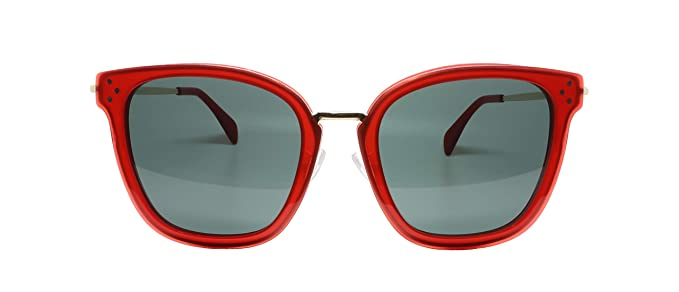 Amazon.com: Gafas de sol Celine CL40035F 66F rojo, tamaño ...