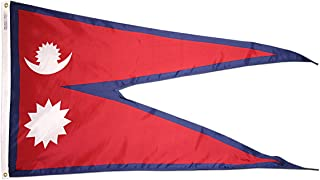 product image for Annin Flagmakers Model 195919 Nepal Flag 3x5 ft. Nylon SolarGuard Nyl-Glo 100% Made in USA to Official United Nations Design Specifications.