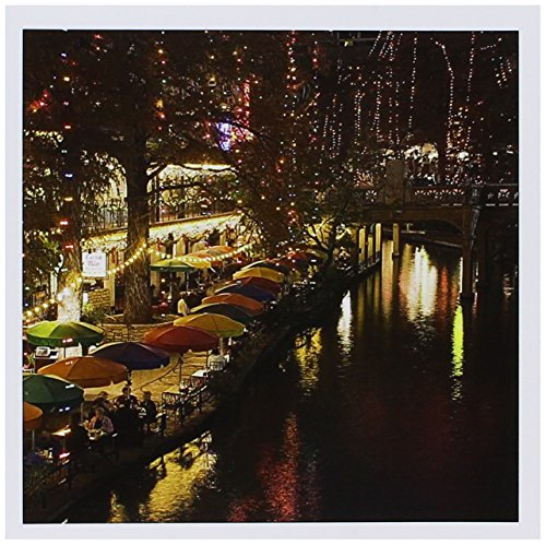 3dRose United States, Texas, San Antonio Riverwalk Area/Evening - Greeting Cards, 6 x 6 inches, set of 6 (gc_94613_1) -