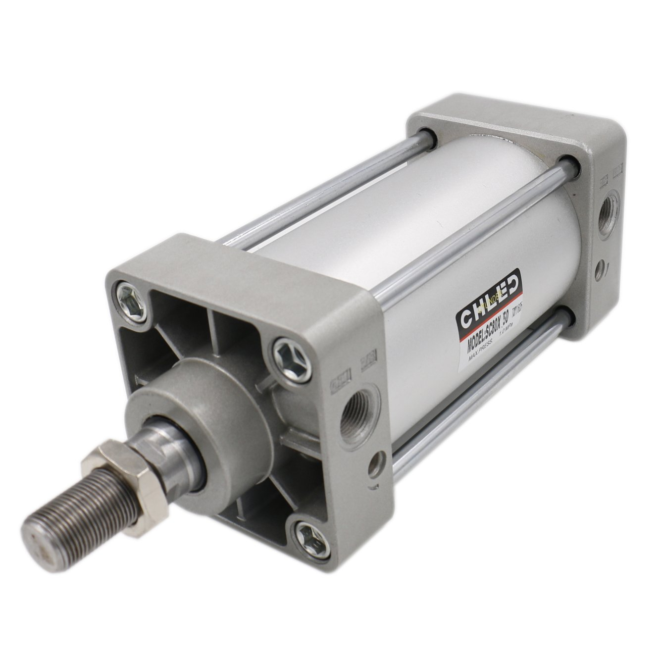 Baomain Pneumatic Air Cylinder SC 80 x 50 PT 3/8, Bore: 80mm, Stroke: 50mm, Screwed Piston Rod Dual Action 1 Mpa