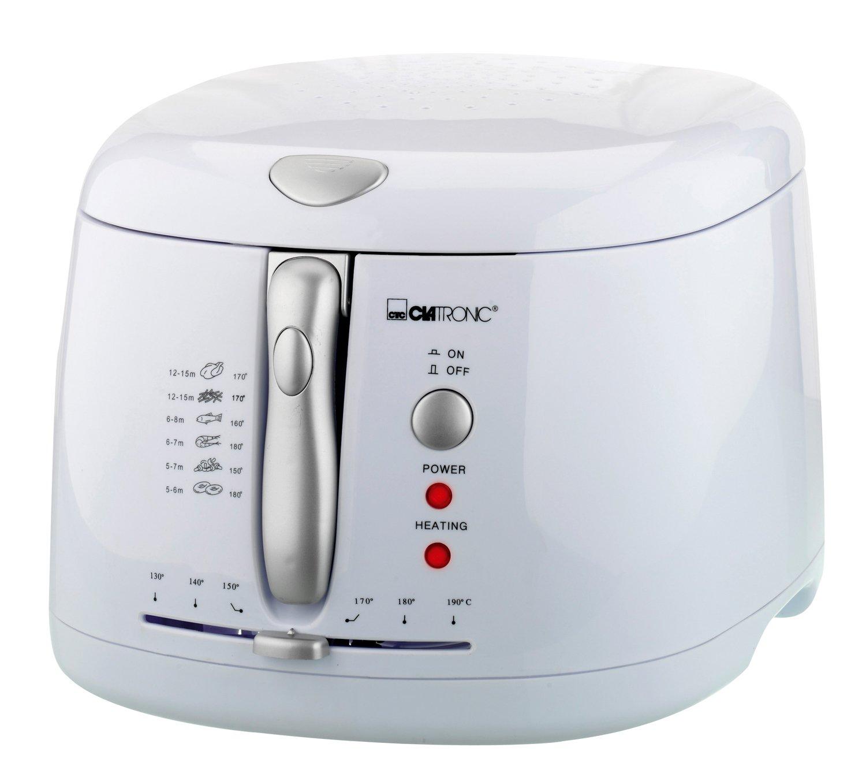Clatronic FR 2881 Freidora, Capacidad 2,2 litros, 1600 W, plástico, Blanco: Clatronic: Amazon.es: Hogar