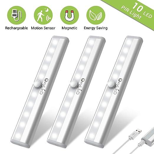 Amazon.com: OxyLED - Luces de armario con sensor de ...