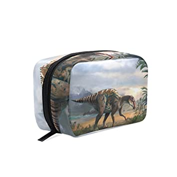 LORVIES Dinosaur Art Cosmetic Pouch Clutch Makeup Bag Travel Organizer Case Toiletry Pouch for Women