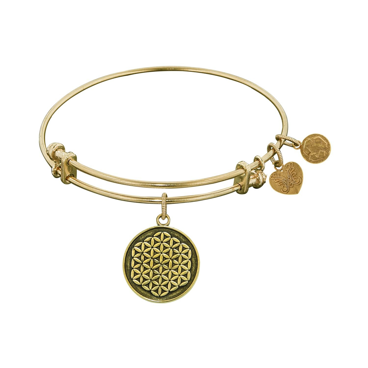 GEL1056 Angelica Ladies Spiritual Collection Bangle Charm 7.25 Inches Adjustable