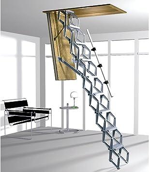 Acceso Zedfold comercial resistente techo escalera 2501 A 2790 mm 10 sin para pasamanos de escalera: Amazon.es: Bricolaje y herramientas