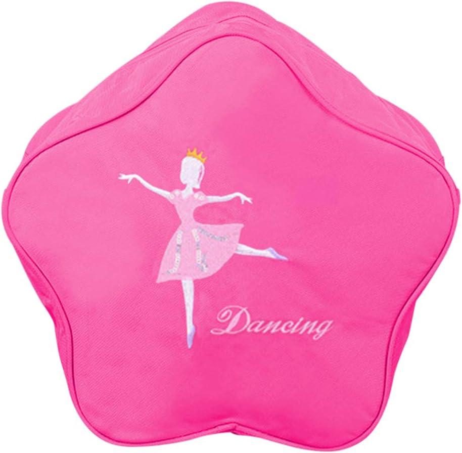 Pink Dancer Backpack Casual Ballerina Daypack Portable Shoulder Bag Waterproof Student Pouch for Ballet Shoes Dress Cardigan Meijunter Girls Ballet Bag