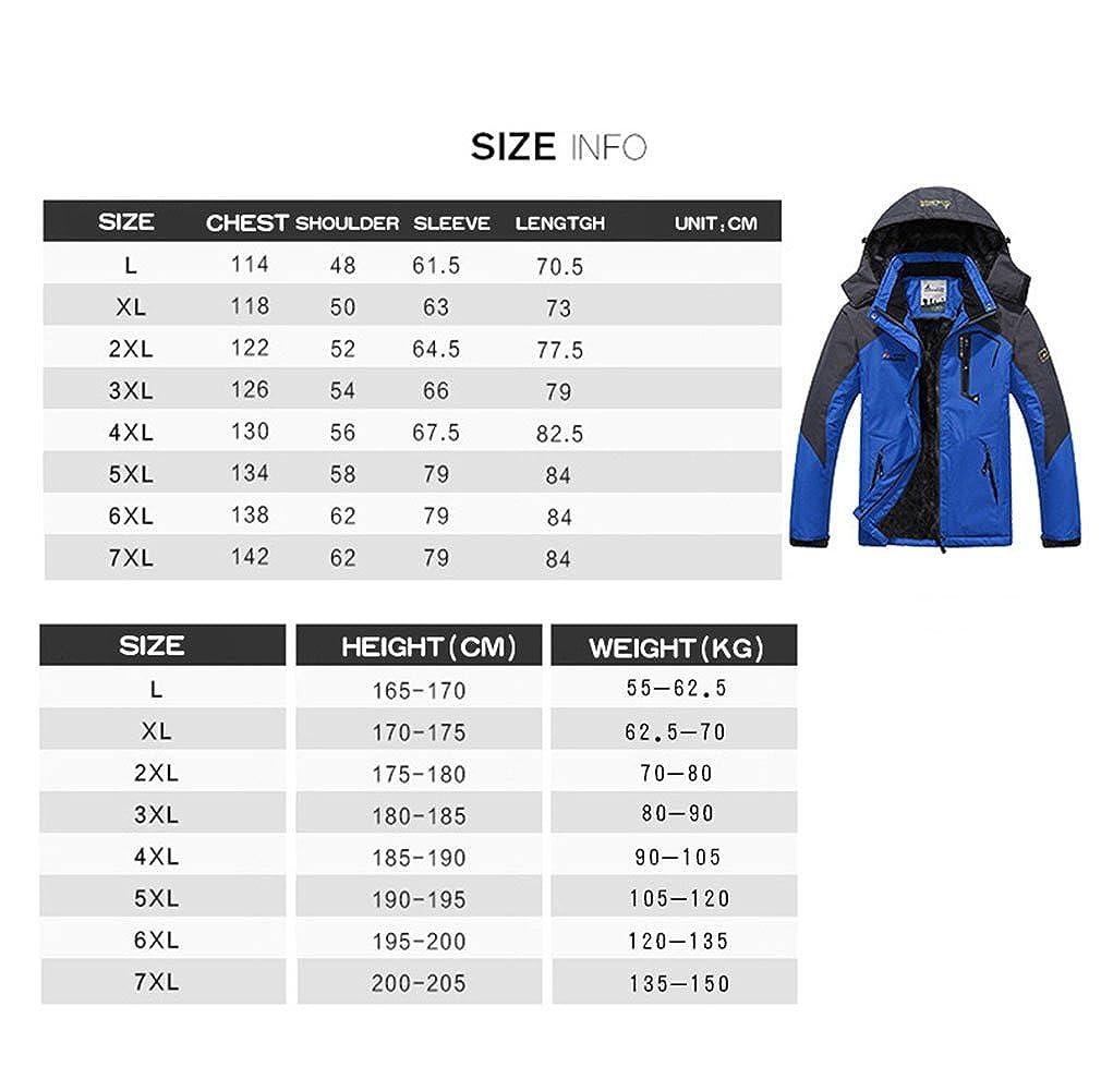 3479a84d1 CIKRILAN Mens Outdoor Sport Waterproof Hooded Fleece Inner Windproof ...