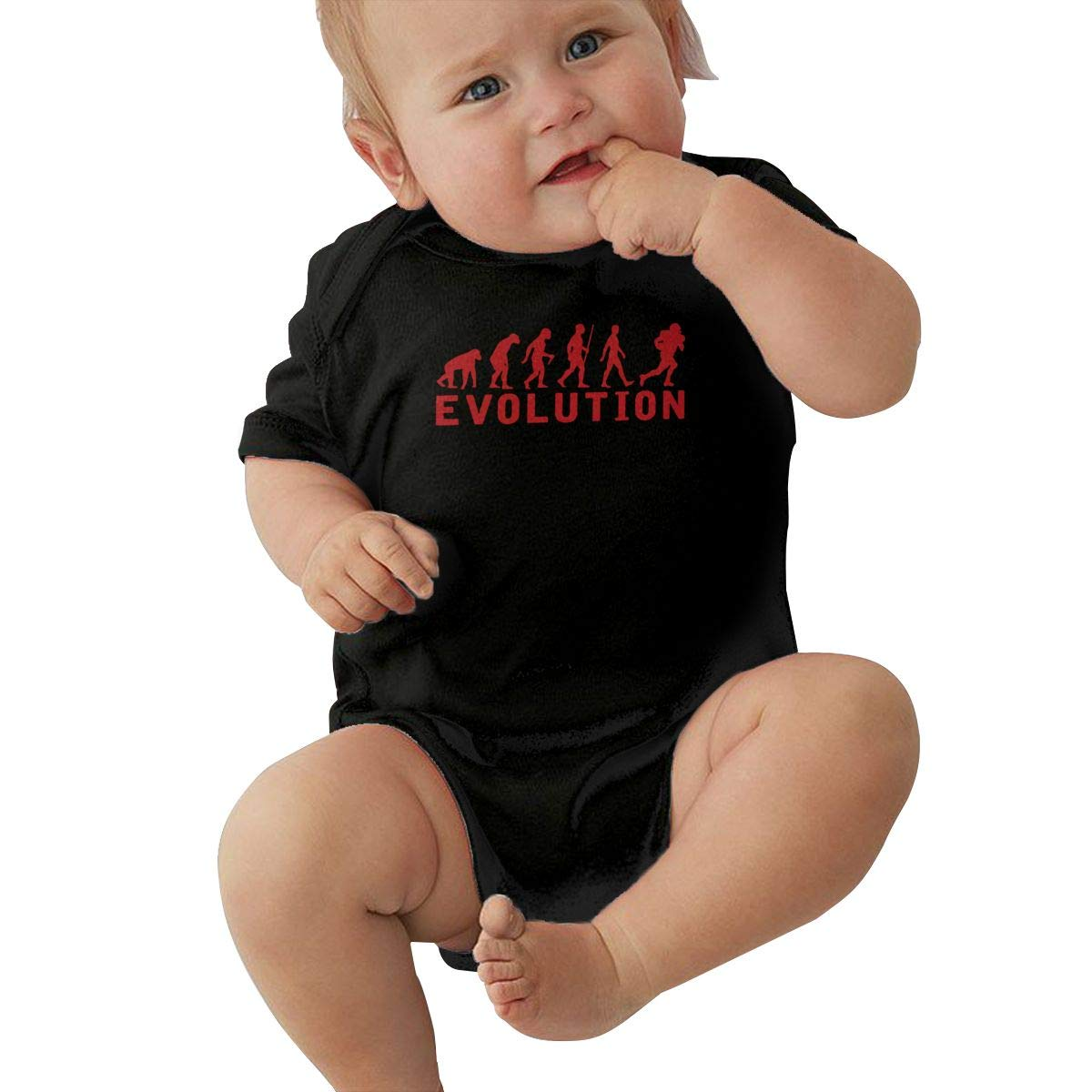 American Football Evolution Newborn Baby Girl Boy Bodysuit Jumpsuit Short Sleeved Bodysuit Tops Clothes