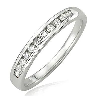 Amazoncom 020 Carat ctw 14K White Gold Round Diamond