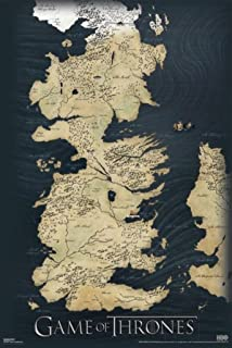picture regarding Game of Thrones Printable Map referred to as XXL Video game of Thrones Poster Map of Westeros and Essos The