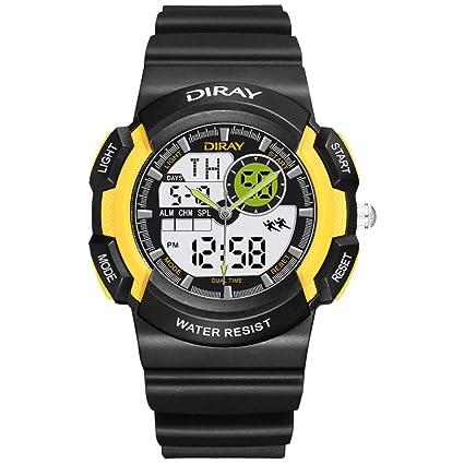 JHGFRT Relojes Deportivos para Niños Reloj Multifuncional De Pulsera De Cuarzo Resistente Al Agua Reloj De
