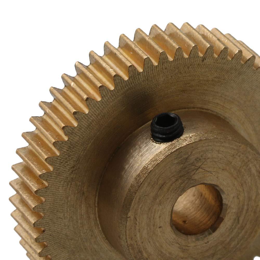 28x10mm 0.5 Modulus 54T Copper Motor Pinion Gear 5mm Bore for Microgenerator