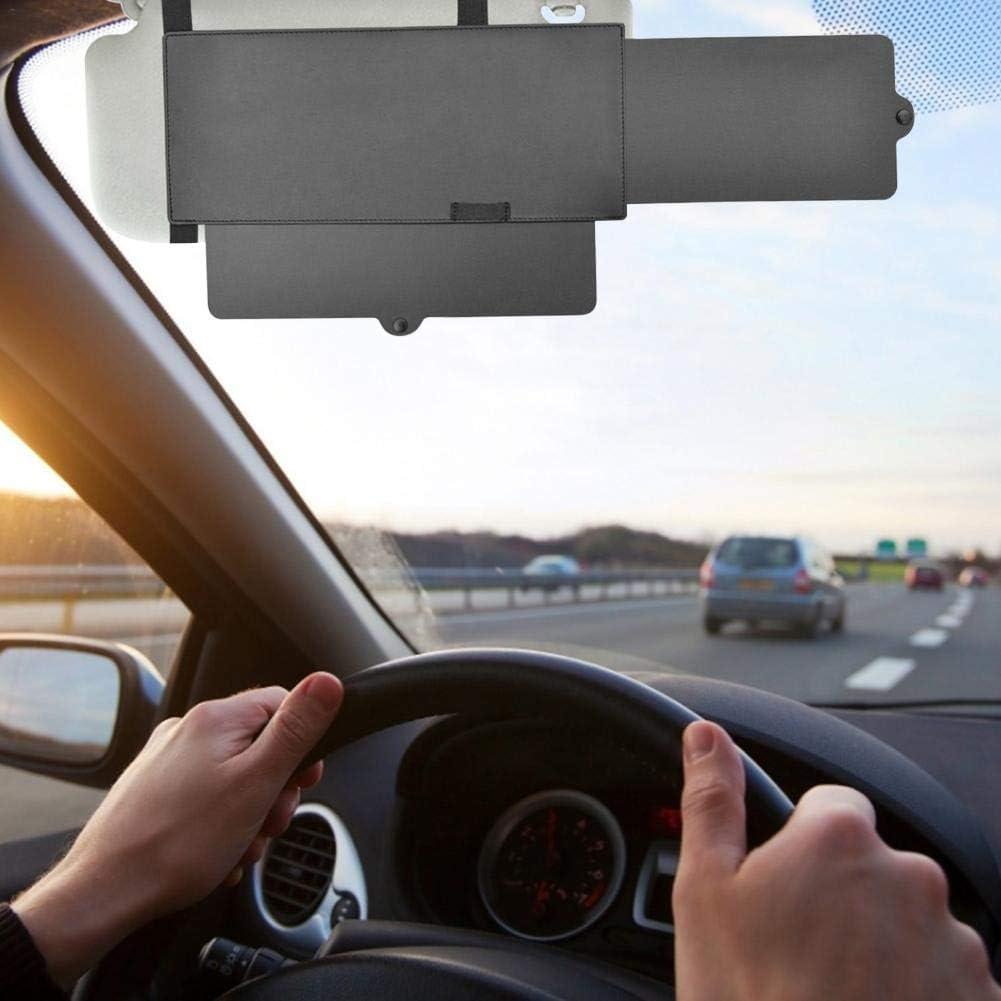 para ventana y bloqueador de rayos UV color negro Extensor de parasol antirreflejos para visera de coche 1 unidad