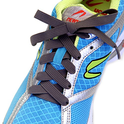 Slacklace Elastic Shoelaces - Flat Lace, No Lock, No Re-Tie - Lace Replacement for Any Shoe