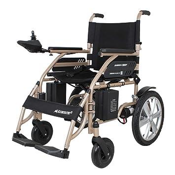 JL-Q Silla de Ruedas eléctrica Plegable portátil Ligero Scooter móvil Scooter para Ancianos y