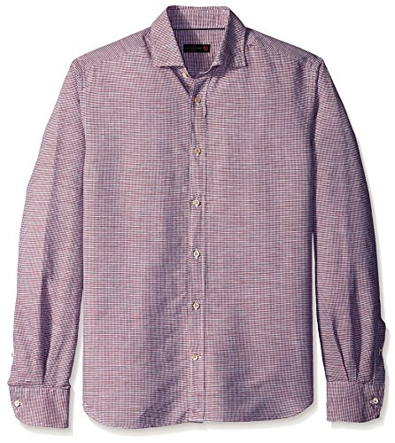 corneliani-mens-mini-check-sport-shirt-red-44-eu-175