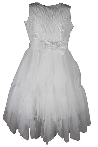 buy online ac925 0b177 ELSY Abito 53280T34 Ragazza Bianco 44: Amazon.it: Abbigliamento