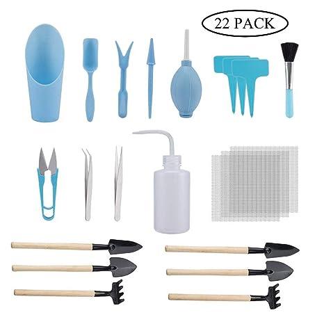 GCOA 22 Pieces Mini d\'outils de Jardinage pour Les Plantes Outils de ...