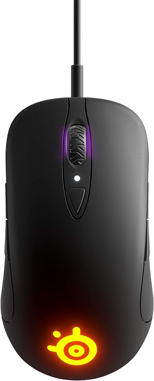 SteelSeries Sensei Ten, Ratón de Juego, Sensor Óptico TrueMove Pro de 18000 CPI, Diseño Ambidiestro, 8 Botones Programables, Cableado, Negro