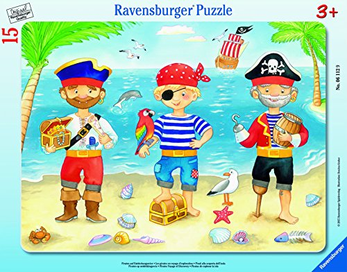 Ravensburger Pirates Voyage of Discovery My First Frame Jigsaw Puzzle (15 - Frame Voyage