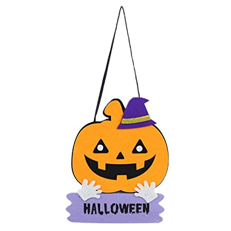 IMIKEYA Cartel de Puerta Colgante de Halloween, decoración ...