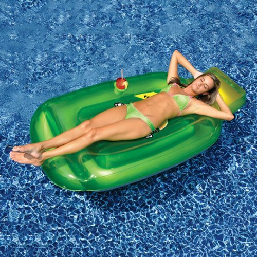 72 Water Sports Inflatable Green Sun Tan Lotion Bottle Swimming Pool Float by Swim Central