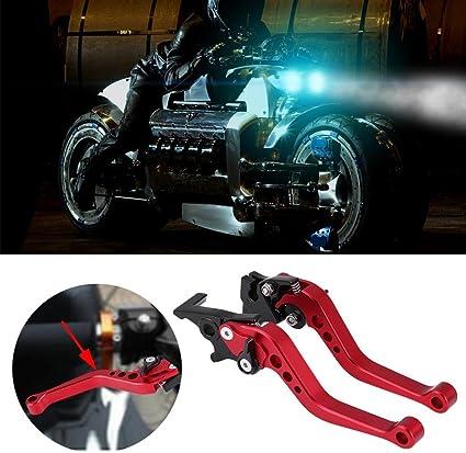 Elerose Una coppia di 22 mm 7//8CNC universale per moto leva freno a frizione in alluminio per motocicli bianco