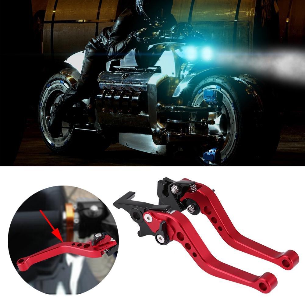 Duokon 1 Paar 22mm 7//8CNC Aluminium Motorrad Kupplungshebel Bremshebel Universalbremshebelgriff Silber