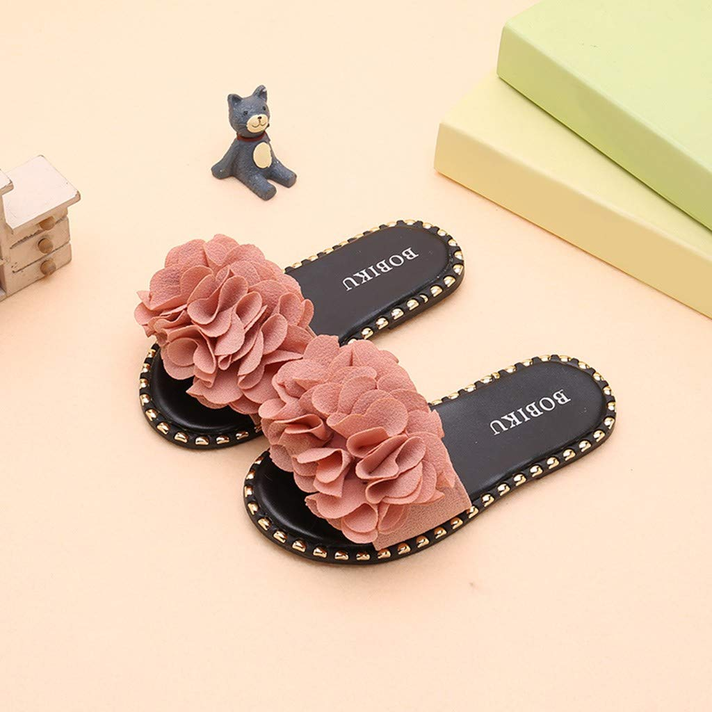 Sumen Baby Girls Slipper Flower Candy Color Flat Flip Flop Shoes