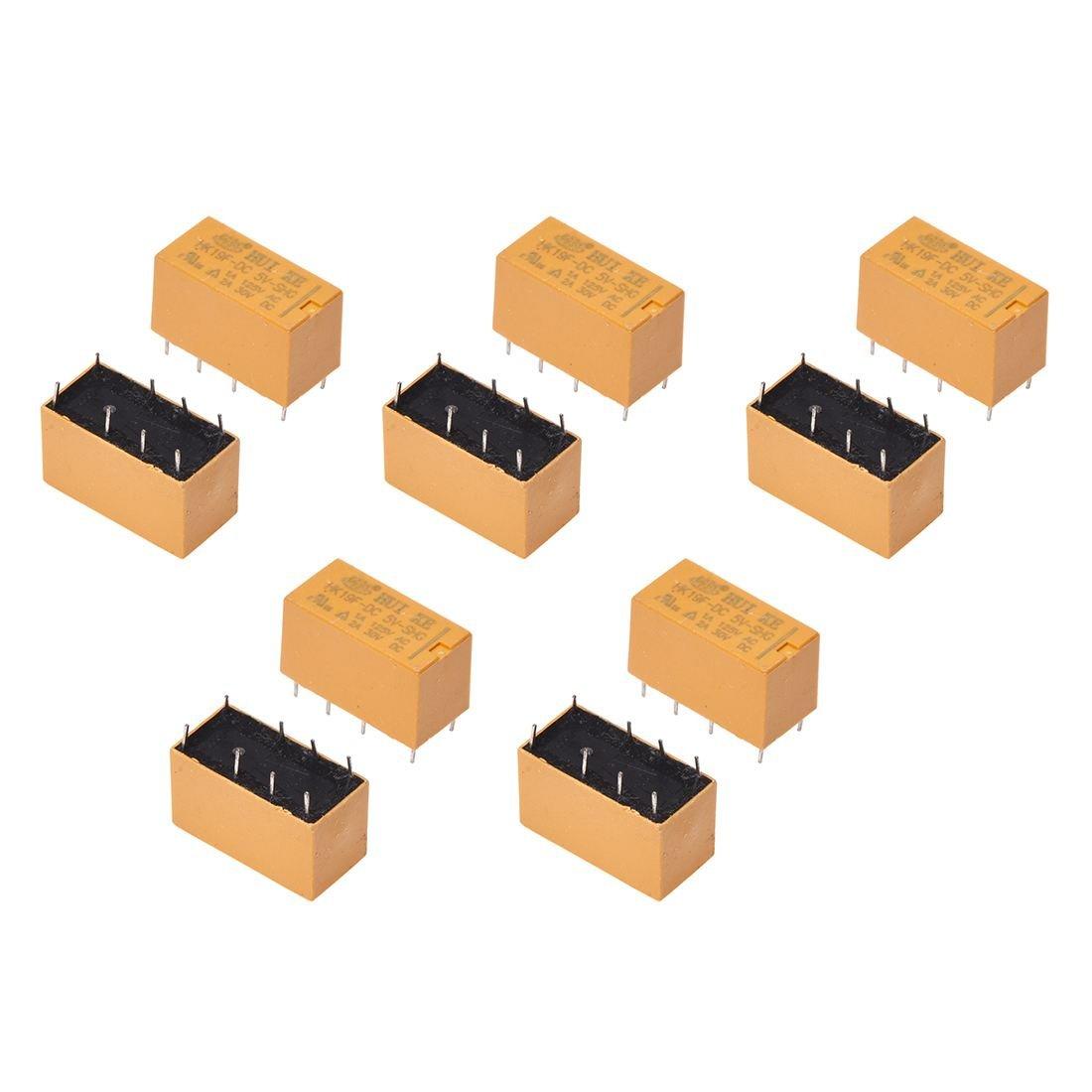 Sonline 10 x DC 5V Coil 125V/1A DC 30V/2A AC 2A/30V DC 8 Pins DPDT Power Relay HK19F