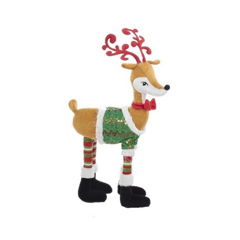 Kurt Adler 18 Boy Reindeer Christmas Sweater Decorative Table Piece
