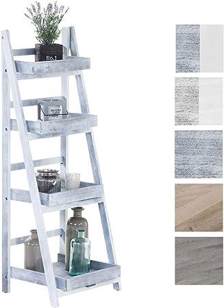 Estantería Escalera Dorin con 4 Estantes I Estantería Plegable en Estilo Rústico I Estantería Decorativa de Madera, Color: Gris: Amazon.es: Hogar