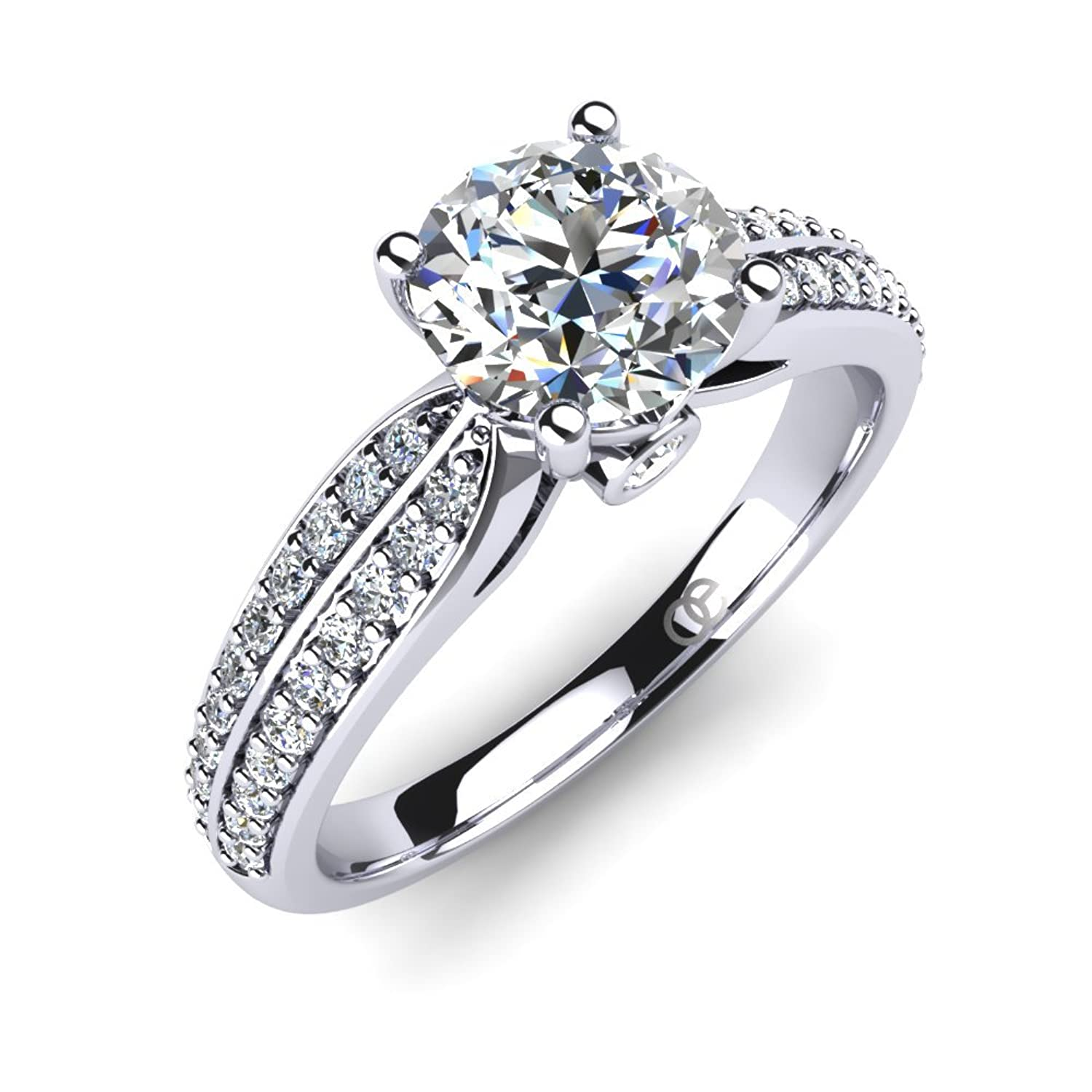 high end wedding rings. moncoeur engagement ring promise impressive combination of high-end swarovski crystals and sterling silver goes along with perfect fit: moncoeur: high end wedding rings -