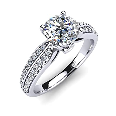 7dc3f7ff7 Moncoeur Engagement Ring Promise + Engagement Rings for Women + Wedding  Bands for Women Sterling Silver