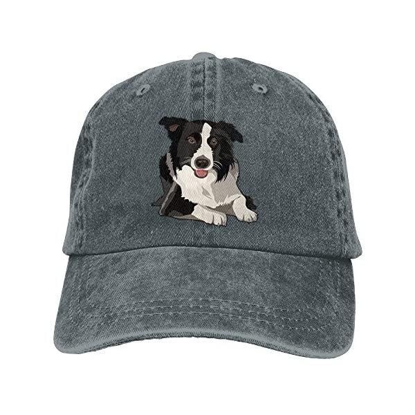MOCSTONE Border Collie Adult Adjustable Denim Cotton Dad Hat Baseball Caps 1