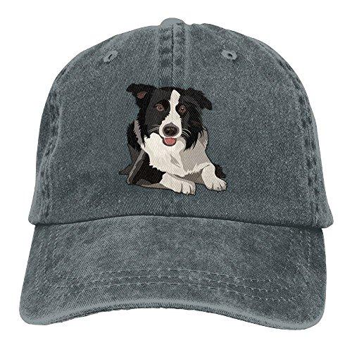 MOCSTONE Border Collie Adult Adjustable Denim Cotton Dad Hat Baseball Caps