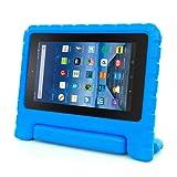 for Amazon Kindle Fire HD 7 2015, Internet Kids Shock Proof EVA Handle Case Cover (Blue)
