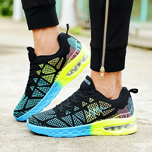 al Shoes Running Sport Lightweight Air Fitness Zapatos Negro Cushion Verde Deportes Libre Unisexo Aire FTax0CqwnR