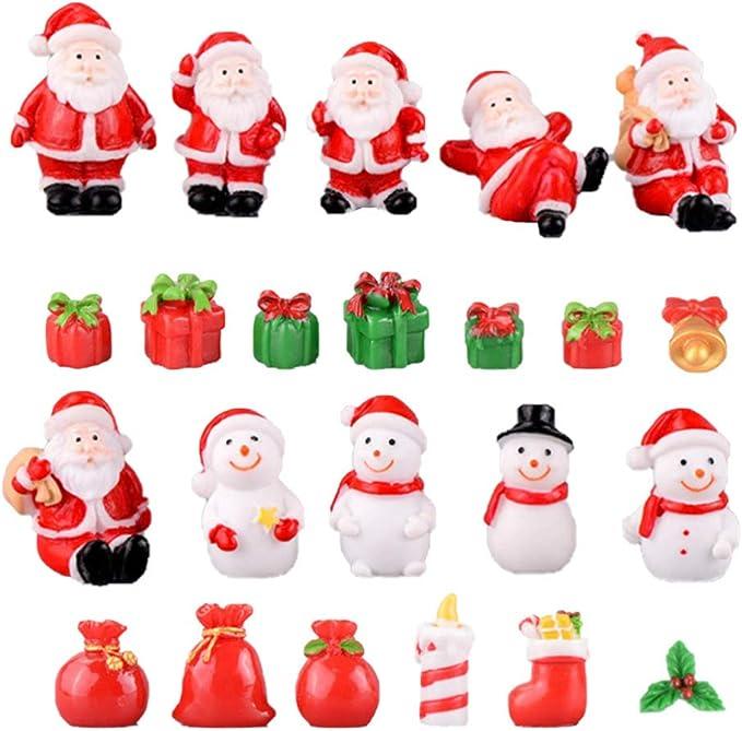 Fairy Garden Mini Santa Claus Figurine Craft Micro-landscape Ornament #1