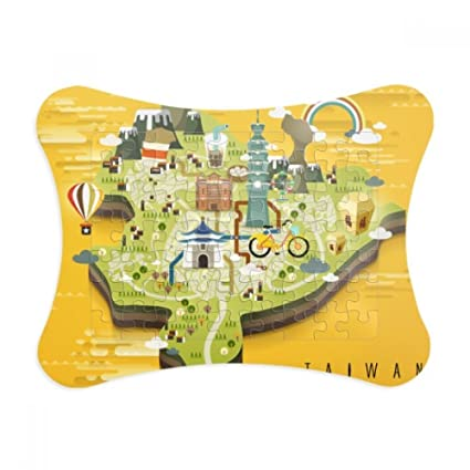 China Map Game.Amazon Com Taipei Travel Map China Paper Card Puzzle Frame Jigsaw