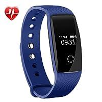 Fitness Tracker,Mpow Fitness Armbänder Aktivitätstracker,Herzfrequenzmonitor,Schlafmonitor,Schrittzähler mit 14 Trainingsmodi, 4 Uhrzeiger,GPS-Routenverfolgung,Alarme,Kameraaufnahme,USB Anschluss direkt laden für Android iOS Smartphone.
