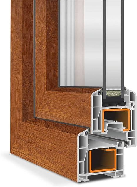 BxH: 60 x 80 cm 2 fach Verglasung Dreh- /& Kippfunktion innen Golden Oak//au/ßen Golden Oak Kellerfenster 60 mm Profil 600 x 800 mm DIN Links Fenster