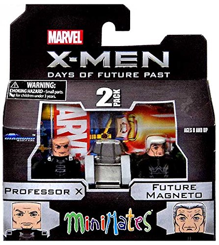Marvel Minimates X-Men Days of Future Past Series 58 Mini Figure 2-Pack Professor X /& Future Magneto Diamond Select