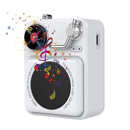 Altavoz portátil Mini BT retro, nuevo simpático tocadiscos ...