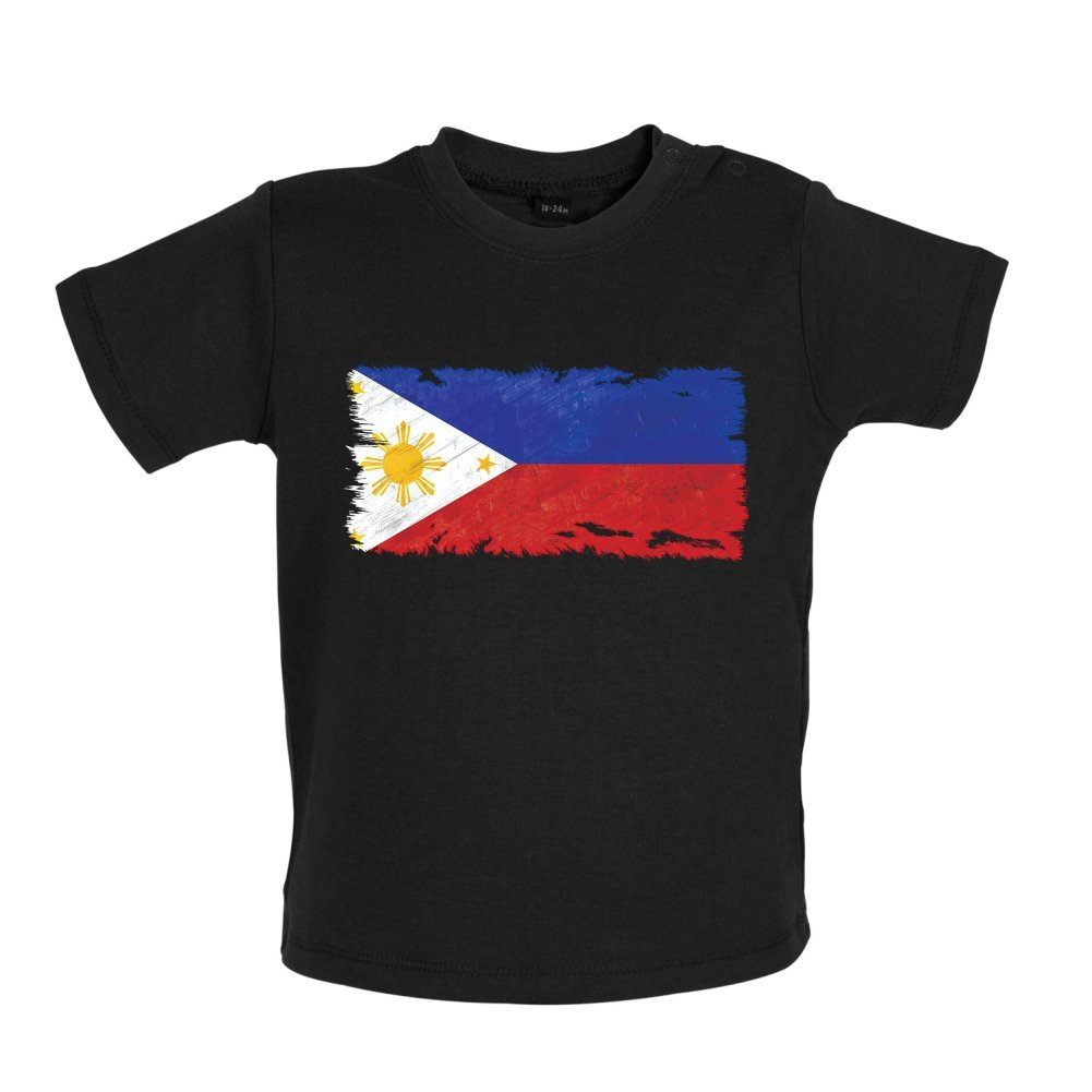 3-24M Dressdown Philippines Grunge Style Flag Baby T-Shirt 8 Colours