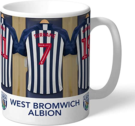 Personalised West Bromwich Albion FC Dressing Room Shirts Mug
