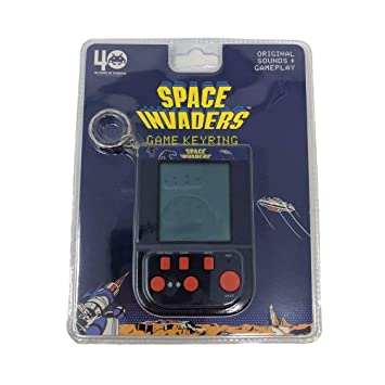 Space Invaders 1566 - Llavero, Color Negro: Amazon.es ...